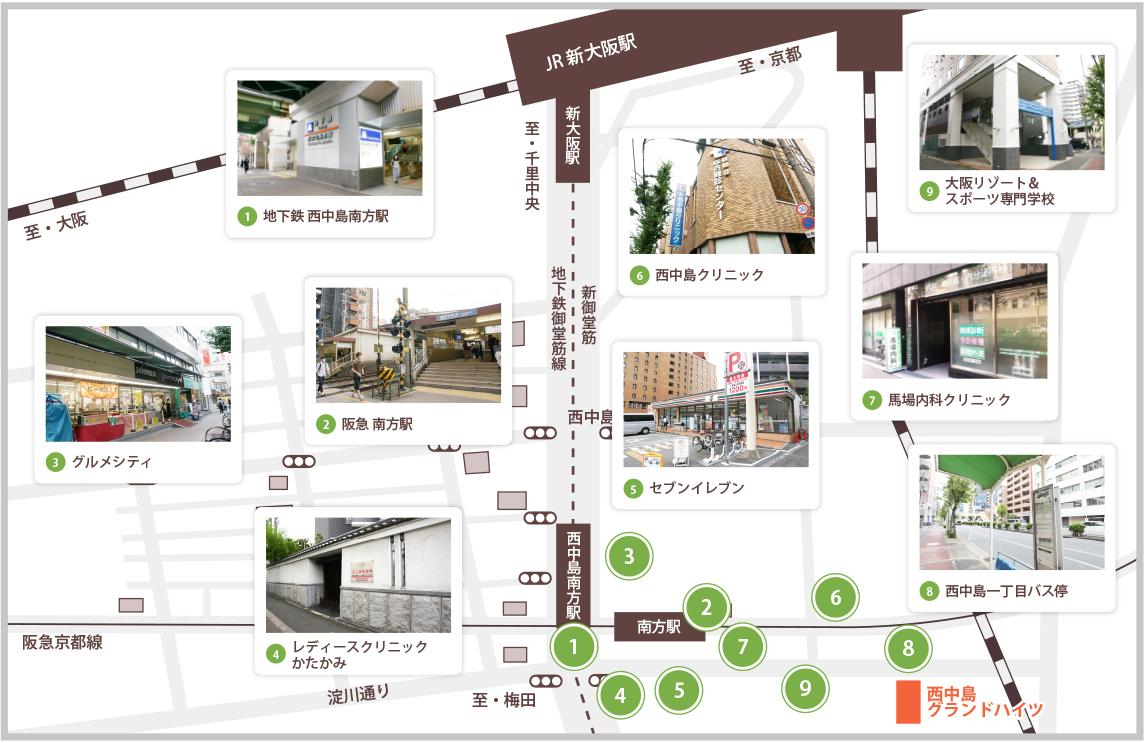 近隣施設のご紹介マップ