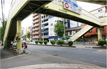淀川通りの歩道橋